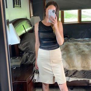 Akris Knee-Length Pencil Skirt, Size Large